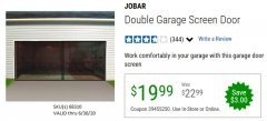 Harbor Freight Coupon DOUBLE GARAGE DOOR SCREEN Lot No. 68310 Valid Thru: 6/30/20 - $19.99