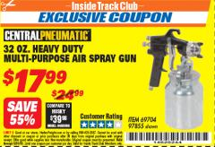 Harbor Freight ITC Coupon 32 OZ. HEAVY DUTY MULTI-PURPOSE PAINT SPRAY GUN Lot No. 69704/97855 Expired: 5/31/18 - $17.99