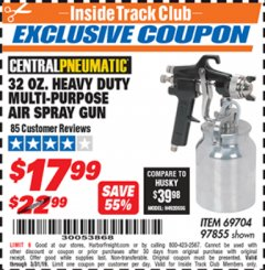 Harbor Freight ITC Coupon 32 OZ. HEAVY DUTY MULTI-PURPOSE PAINT SPRAY GUN Lot No. 69704/97855 Expired: 3/31/19 - $17.99