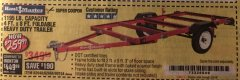 Harbor Freight Coupon 1195 LB. CAPACITY 4 FT. x 8 FT. HEAVY DUTY FOLDABLE UTILITY TRAILER Lot No. 62170/62648/62666/90154 Expired: 2/5/19 - $259.99