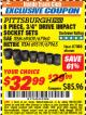 "Harbor Freight ITC Coupon 8 PIECE 3/4"" DRIVE IMPACT SOCKET SETS Lot No. 69509/67960/67965/69519 Expired: 7/31/17 - $32.99"