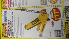 Harbor Freight Coupon 3 TON DAYTONA PROFESSIONAL STEEL FLOOR JACK - SUPER DUTY Lot No. 63183 Expired: 6/30/18 - $179.99