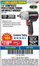 "Harbor Freight Coupon EARTHQUAKE XT 1/2"" COMPOSITE XTREME TORQUE AIR IMPACT WRENCH Lot No. 62891 Expired: 11/22/17 - $119.99"