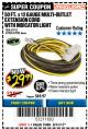 Harbor Freight Coupon 12 GAUGE X 50FT MULTI-OUTLET EXTENSION CORD WITH INDICATOR LIGHT Lot No. 96709/62903/61953/62904 Expired: 8/31/17 - $29.99