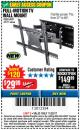 Harbor Freight Coupon FULL MOTION TV WALL MOUNT  Lot No. 64037/63155 Expired: 11/22/17 - $29.99