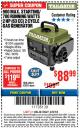 Harbor Freight ITC Coupon 900 PEAK / 700 RUNNING WATTS, 2HP (63CC) 2 CYCLE GAS GENERATOR EPA/CARB Lot No. 63024/63025 Expired: 3/8/18 - $88.99