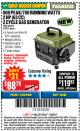 Harbor Freight Coupon 900 PEAK / 700 RUNNING WATTS, 2HP (63CC) 2 CYCLE GAS GENERATOR EPA/CARB Lot No. 63024/63025 Expired: 11/22/17 - $88.79
