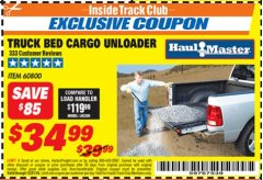 Harbor Freight ITC Coupon TRUCK BED CARGO UNLOADER Lot No. 60800 Expired: 12/31/18 - $34.99