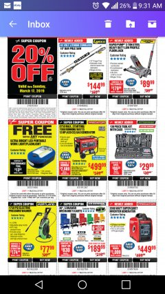 Harbor Freight Coupon 1750 PSI ELECTRIC PRESSURE WASHER Lot No. 63254/63255 Expired: 3/17/19 - $77.99