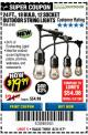 Harbor Freight Coupon 24 FT., 18 BULB, 12 SOCKET OUTDOOR STRING LIGHTS Lot No. 64486/63843/64739 Expired: 8/31/17 - $19.99