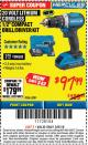 "Harbor Freight ITC Coupon HERCULES 20 VOLT LITHIUM CORDLESS 1/2"" COMPACT DRILL/DRIVER KIT Lot No. 63381 Expired: 3/8/18 - $97.99"