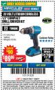 "Harbor Freight Coupon HERCULES 20 VOLT LITHIUM CORDLESS 1/2"" COMPACT DRILL/DRIVER KIT Lot No. 63381 Expired: 11/22/17 - $89.99"