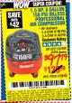 Harbor Freight Coupon 1.5 HP, 6 GALLON, 150 PSI PROFESSIONAL AIR COMPRESSOR Lot No. 62894/67696/62380/62511/68149 Expired: 8/24/15 - $97.79