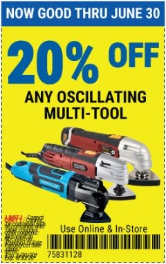 Harbor Freight Coupon 20 percent off coupon expires: 6/30/20