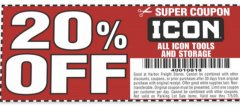 Harbor Freight Coupon 20 percent off coupon expires: 7/5/20