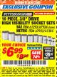 "Harbor Freight ITC Coupon 10 PIECE, 3/8"" DRIVE HIGH VISIBILITY SOCKET SETS Lot No. 61293/67924/67923/61285 Expired: 3/31/18 - $6.99"