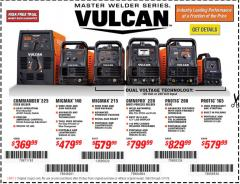 Harbor Freight Coupon VULCAN OMNIPRO 220 MULTIPROCESS WELDER WITH 120/240 VOLT INPUT Lot No. 63621/80678 Expired: 1/31/18 - $799.99