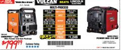 Harbor Freight Coupon VULCAN OMNIPRO 220 MULTIPROCESS WELDER WITH 120/240 VOLT INPUT Lot No. 63621/80678 Expired: 2/25/18 - $799.99