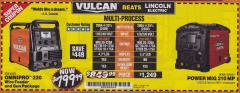 Harbor Freight Coupon VULCAN OMNIPRO 220 MULTIPROCESS WELDER WITH 120/240 VOLT INPUT Lot No. 63621/80678 Expired: 3/31/18 - $799.99