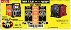 Harbor Freight Coupon VULCAN OMNIPRO 220 MULTIPROCESS WELDER WITH 120/240 VOLT INPUT Lot No. 63621/80678 Expired: 5/27/18 - $799.99