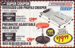 Harbor Freight Coupon OVERSIZED LOW-PROFILE CREEPER Lot No. 63371/63424/64169/63372 Valid Thru: 10/31/19 - $19.99