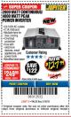 Harbor Freight Coupon 2000 WATT CONTINUOUS/4000 WATT PEAK POWER INVERTER Lot No. 63426/63429 Expired: 3/18/18 - $127.99