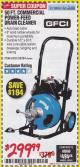 Harbor Freight Coupon 50 FT. COMMERCIAL POWER-FEED DRAIN CLEANER Lot No. 68284/61857 Expired: 1/31/18 - $299.99