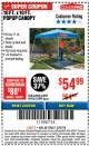 Harbor Freight ITC Coupon COVERPRO 10 FT. X 10 FT. POPUP CANOPY Lot No. 62898/62897/62899/69456 Expired: 3/8/18 - $54.99