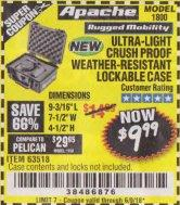 Harbor Freight Coupon APACHE 1800 WEATHERPROOF PROTECTIVE CASE Lot No. 64550/63518 Expired: 6/9/18 - $9.99