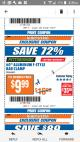 "Harbor Freight ITC Coupon 60"" ALUMINIUM F-STYLE BAR CLAMP Lot No. 60673 Expired: 12/5/17 - $9.99"