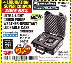 Harbor Freight Coupon APACHE 2800 CASE Lot No. 63926/64551 Expired: 6/30/18 - $22.99