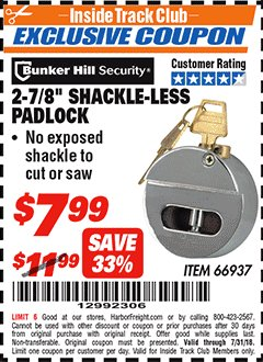 Harbor freight padlock hard glue gun price