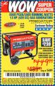 Harbor Freight Coupon 6500 PEAK/5500 RUNNING WATTS  13 HP (420 CC) GAS GENERATORS Lot No. 68529/69672/68526/69674 Expired: 4/16/17 - $449.99