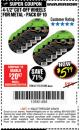 "Harbor Freight Coupon WARRIOR 4-1/2"" CUT-OFF WHEELS FOR METAL - PACK OF 10 Lot No. 61195/45430 Expired: 4/30/18 - $5.99"