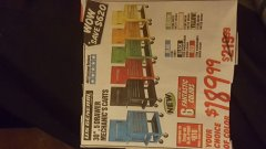 "Harbor Freight Coupon 30"", 5 DRAWER MECHANIC'S CARTS (ALL COLORS) Lot No. 64031/64030/64032/64033/64061/64060/64059/64721/64722/64720 Expired: 3/9/19 - $189.99"