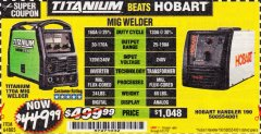 Harbor Freight Coupon TITANIUM MIG 170 WELDER Lot No. 64805 Expired: 5/31/19 - $449.99