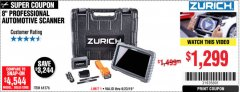 Harbor Freight Coupon ZURICH ZR-PRO PROFESSIONAL AUTO SCANNER Lot No. 64576 Valid Thru: 6/23/19 - $1299