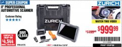 Harbor Freight Coupon ZURICH ZR-PRO PROFESSIONAL AUTO SCANNER Lot No. 64576 Expired: 7/4/19 - $999.99