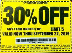Harbor Freight Coupon 30 percent off coupon expires: 9/22/19