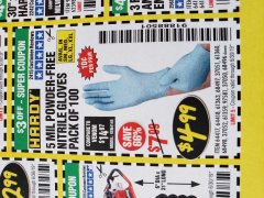 Harbor Freight Coupon POWDER-FREE NITRILE GLOVES PACK OF 100 (5 MIL) Lot No. 97581/97582/37051/37052/64417/64418/61363/68497/61360/61359/68498/68496 Expired: 6/30/19 - $4.99