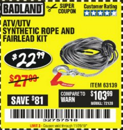 Harbor Freight Tools Coupon Database - Coupon Search for: ATV