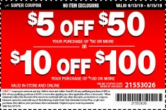 Harbor Freight Coupon $5 OFF $50 Lot No.  62630, 63075,62337, 62469,64497,62896, 63190,63254,69293, 61714 63255 Valid Thru: 9/15/19 - $0