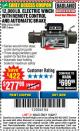 Harbor Freight Coupon 12,000 LB. ELECTRIC WINCH WITH REMOTE CONTROL AND AUTOMATIC BRAKE Lot No. 68142/61256/60813/61889 Expired: 11/22/17 - $277.99
