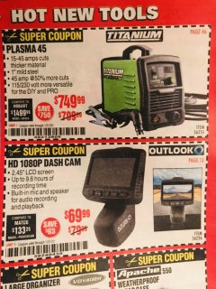 Harbor Freight Coupon OUTLOOK HD 1080P DASH CAMERA  Lot No. 56226 Expired: 1/20/20 - $69.99