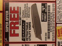 Harbor Freight FREE Coupon UTILITY KNIFE Lot No. 3359 Expired: 3/2/19 - FWP