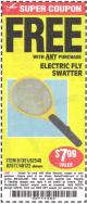 Harbor Freight FREE Coupon ELECTRIC FLY SWATTER Lot No. 61351/40122/62540/62577 Expired: 5/25/15 - FWP