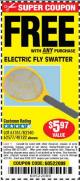 Harbor Freight FREE Coupon ELECTRIC FLY SWATTER Lot No. 61351/40122/62540/62577 Expired: 4/27/16 - FWP
