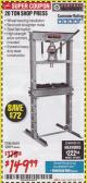 Harbor Freight Coupon 20 TON SHOP PRESS Lot No. 32879/60603 Expired: 1/31/18 - $149.99