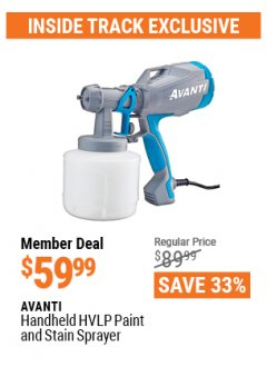 Harbor Freight ITC Coupon AVANTI HANDHELD HVLP PAINT AND STAIN SPRAYER Lot No. 64934 Expired: 4/29/21 - $59.99