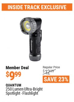 Harbor Freight ITC Coupon QUANTUM 250 LUMEN ULTRA-BRIGHT MINI SPOTLIGHT-FLASHLIGHT Lot No. 56882 Expired: 4/29/21 - $9.99